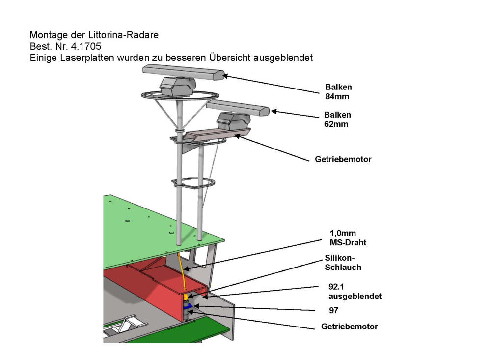 Radar Systems Littorina Scale 1 32 With Geared Motor Bauer Modelle