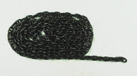 anchorchain black burnished 7,8x4,9x1,3mm, 1m