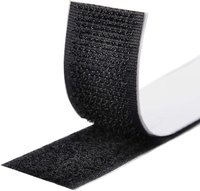 Velcro tape, self-adhesive, loop and hook 25mm, each 25cm